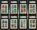 Football Cards:Sets, 1969 Topps Four In One Football Complete Set (66) With Mint Piccolo. ...