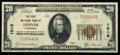 National Bank Notes:Colorado, Denver, CO - $20 1929 Ty. 1 The First NB Ch. # 1016. ...