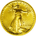 High Relief Double Eagles: , 1907 $20 High Relief, Wire Rim AU58 NGC. An exceptional example for the near-Mint level. This piece boasts surfaces that ar...