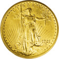 Saint-Gaudens Double Eagles: , 1921 $20 MS63 PCGS. In U.S. numismatics there are certain issueswhose rarity can, at least in part, be explained by the fo...