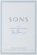 Books:Fiction, Thomas McGuane. SIGNED/LIMITED. Sons. Northridge: Lord JohnPress, 1993. One of 26 signed lettered copies, this be...