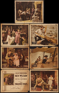 """Branded Four (Select, 1920). Title Lobby Card & Lobby Cards (6) (11"""" X 14""""). Episode 12 -- """"Lost..."""