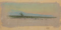 Texas:Early Texas Art - Regionalists, FRANK REAUGH (American, 1860-1945). Untitled (unfinishedlandscape). Pastel on grit paper. 3-1/2 x 9 inches (8.9 x 22.9...