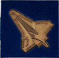 Transportation:Space Exploration, Space Shuttle Columbia (STS-107) Unflown Gold Robbins Medallion, Serial Number 18. ...