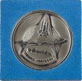 Transportation:Space Exploration, Space Shuttle Columbia (STS-1) Unflown Silver RobbinsMedallion, Serial Number 320. ...