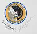Autographs:Celebrities, Apollo 12 Beta Cloth Mission Insignia Signed by Bean and Gordon. ...