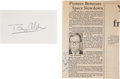 Autographs:Celebrities, Apollo 11 Moonwalkers: Signed Items. ... (Total: 2 Items)