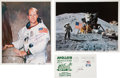 Autographs:Celebrities, Apollo 15: Signed Items. ... (Total: 3 Items)