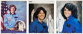 Autographs:Celebrities, Pioneering Female Astronauts: Signed Color Photos.... (Total: 3Items)