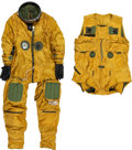 Transportation:Aviation, Air Force U-2 / TR-1A Pilot High Altitude Full Pressure Suit withHarness and Gloves. ... (Total: 3 Items)