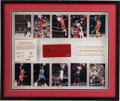 Basketball Collectibles:Others, 1987-94 Chicago Stadium Basketball Court Piece Signed by MichaelJordan....