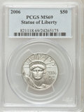 Modern Bullion Coins, 2006 $50 Half-Ounce Platinum Eagle MS69 PCGS. PCGS Population(340/29). Numismedia Wsl. Price for probl...