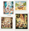 Memorabilia:Disney, Carl Barks A Lithographic Suite of Preliminary Paintings Portfolio Limited Edition #13/500 (Another Rainbow, 1... (Total: 12 Items)