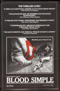 "Blood Simple (Circle Films, 1985). One Sheet (24"" X 36.5""). Thriller"
