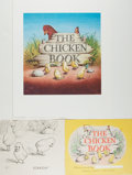 Books:Children's Books, Garth Williams. INITIALED/SIGNED. Dust Jacket for The ChickenBook , signed in full on verso. Howell, Soskin...