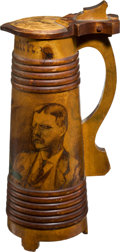 Political:3D & Other Display (1896-present), Theodore Roosevelt: Pyrography Stein....