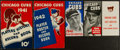Baseball Collectibles:Publications, 1941-47 Chicago Cubs Player Rosters and Players' History and RecordBooks Lot of 5....