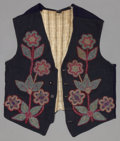 American Indian Art:Beadwork and Quillwork, A CHIPPEWA BEADED CLOTH VEST. c. 1910...