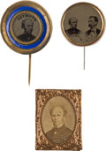 Political:Ferrotypes / Photo Badges (pre-1896), Horatio Seymour: Three Campaign Badges.... (Total: 3 Items)