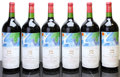 Red Bordeaux, Chateau Mouton Rothschild 1982 . Pauillac. owc. Magnum (6). ... (Total: 6 Mags. )