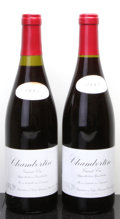 Red Burgundy, Chambertin 1993 . Leroy . 1-stained neck tag, 1lbsl, ssosdue to overfill, #00173, . Bottle (2). ... (Total: 2 Btls. )