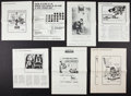 "Movie Posters:Foreign, Foreign Pressbook Lot (Various, 1960-197). Uncut Pressbooks (7) (Multiple Pages, Various Sizes) and One Sheet (27"" X 41""). F... (Total: 8 Items)"