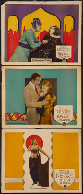 "Bella Donna (Paramount, 1923). Lobby Cards (3) (11"" X 14""). Drama. ... (Total: 3 Items)"