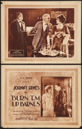 "Movie Posters:Adventure, Burn 'Em Up Barnes (Mastodon, 1921). Title Lobby Card & LobbyCard (11"" X 14""). Adventure.. ... (Total: 2 Items)"