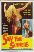 "Movie Posters:Sexploitation, Sin You Sinners (Joseph Brenner Associates, 1963). Poster (40"" X60""). Sexploitation.. ..."
