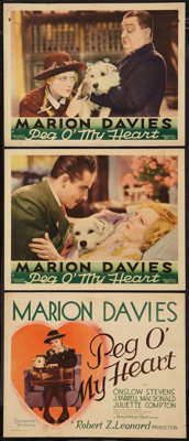 "Peg o' My Heart (MGM, 1933). Title Lobby Card and Lobby Cards (2) (11"" X 14""). Romance. ... (Total: 3 Items)"