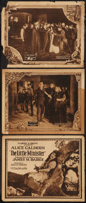 """The Little Minister (Vitagraph, 1922). Title Lobby Card & Lobby Cards (2) (11"""" X 14""""). Drama. ... (Total:..."""