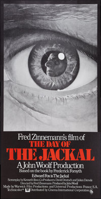 "The Day of the Jackal (Universal, 1973). British Three Sheet (40"" X 80""). Thriller"