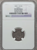 Early Half Dimes, 1801 H10C -- Scratches -- NGC Details. VF. V-1, LM-2, R.4....