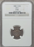 Early Half Dimes, 1800 H10C Fine 15 NGC. V-1, LM-1, R.3....