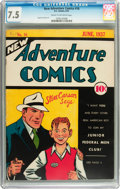 Golden Age (1938-1955):Adventure, New Adventure Comics #16 (DC, 1937) CGC VF- 7.5 Cream to off-white pages....