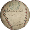 Autographs:Baseballs, 1924 Baseball World Tour Signed Baseball with RelatedMemorabilia....