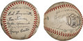 Autographs:Baseballs, 1944 St. Louis Cardinals & St. Louis Browns Team Signed Baseballs....