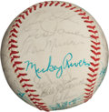 Autographs:Baseballs, 1976 American League All-Star Team Signed Baseball with Munson....