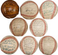Autographs:Baseballs, 1941-50 Chicago Cubs Team Signed Baseballs Lot of 8....