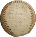 Autographs:Baseballs, 1914 Buffalo Blues (Federal League) Team Signed Baseball....