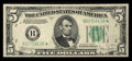 Fr. 1959-B* $5 1934C Wide Face Federal Reserve Star Note. Very Fine