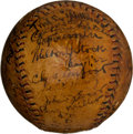 Autographs:Baseballs, Early 1920's Major League Stars Multi-Signed Baseball with Evers, Rixey....