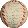 Autographs:Baseballs, 1948 Boston Braves Team Signed Baseball....