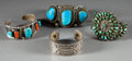 American Indian Art:Jewelry and Silverwork, FOUR SOUTHWEST SILVER BRACELETS. c. 1940 - 1980. ... (Total: 4Items)