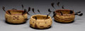American Indian Art:Baskets, THREE MAIDU COILED BOWLS. c. 1920... (Total: 3 Items)