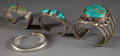 American Indian Art:Jewelry and Silverwork, FOUR NAVAJO SILVER BRACELETS... (Total: 4 Items)