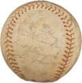 Autographs:Baseballs, 1935 Pittsburgh Pirates & Cincinnati Reds Signed Baseball with Honus Wagner....