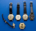 Timepieces:Wristwatch, A Lot Of Eight Wristwatches Three Are 14k Gold & Jaeger LeCoultre Is 18k Gold Manual Wind. ... (Total: 8 Items)