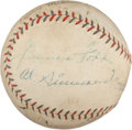 Autographs:Bats, 1929 Philadelphia Athletics Partial Team Signed Baseball....