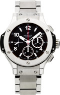 Timepieces:Wristwatch, Hublot Big Bang Ref. 301, No. 616360 Large Self-Winding Stainless& Kevlar Chronograph. ...
